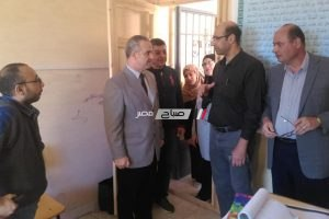 مدير دمياط الجديدة التعليمية يتفقد مدرسة المهندس حسب الله الكفراوي و يجتمع بمجلس الامناء