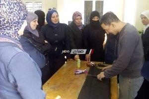 غدا ختام دورة الجلود للاجئات السوريات بمركز شباب مدينة دمياط … صور