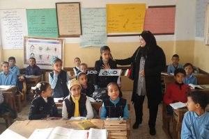 مدير كفر سعد التعليمية بدمياط تتفقد مجمع مدارس حي العروبة و مدرسة المأمورية