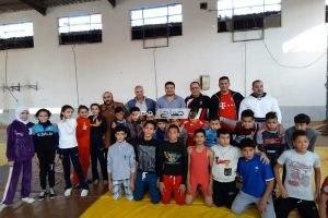 انتظام المشروع القومي للناشئين لرياضة المصارعة بمركز شباب مدينة فارسكور بدمياط