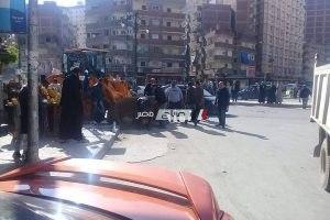 بالصور حملات إزالة إشغالات وتعديات مكثفة بحى المنتزه بالإسكندرية