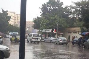 تساقط أمطار خفيفة على مناطق غرب الإسكندرية اليوم
