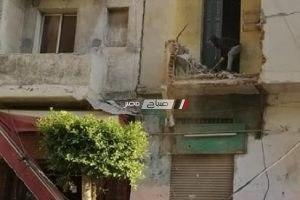سقوط أجزاء من شرفة عقار بمنطقة الإبراهيمية بالإسكندرية