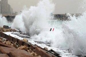 استمرار غلق بوغاز مينائي الإسكندرية والدخيلة بسبب سوء الأحوال الجوية وارتفاع الأمواج