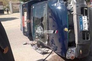 حادث مرورى بالوادى الجديد يسفر عن إصابة 4 شرطيين