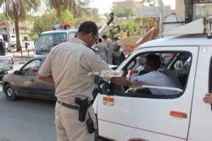 """""""أمن المنوفية """"يحرير مخالفات مرورية ويفحص 23 شخصا جنائيا"""