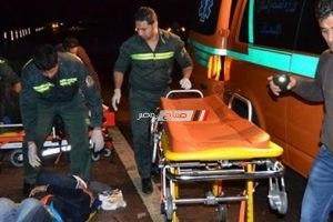اصابة 5 أفراد في حادث انقلاب توك توك أعلى كوبري في أسيوط