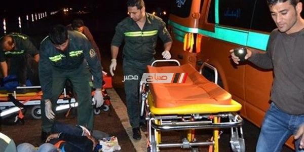 بالاسماء اصابة 9 اشخاص في حادث مركبة بخارية بدمياط