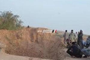 مقتل عامل إنهالت علية الرمال أثناء حفر بئر ارتوازي بمزرعة في البحيرة