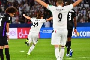 نتيجة مباراة ريال مدريد والعين