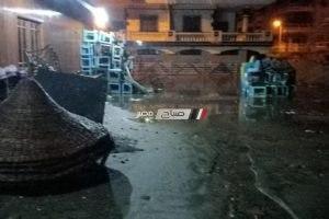""""""" امطار غزيرة ورياح نشطه """"استمرار موجة الطقس السيئ بدمياط و توقف حركة الصيد (صور و فيديو)"""