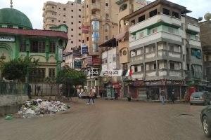 موجة من الامطار المتوسطة تضرب مدن و قرى محافظة دمياط وانخفاض كبير في درجات الحرارة