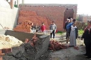 ازالة حالة تعدي على 250 متر من الأراضي الزراعية بالقناطر الخيرية