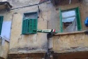 إنهيار أجزاء من عقار بمنطقة اللبان بالاسكندرية
