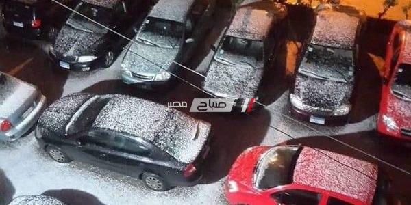 توضيح حقيقة صورة تساقط الثلوج في محافظة الإسكندرية