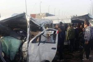 اصابة شخصين في حادث سير مروع على طريق دمياط – دمياط الجديدة