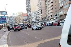 بالأسماء مصرع فتاة وإصابة 3 آخرين فى حادث تصادم بطريق الكورنيش بالإسكندرية