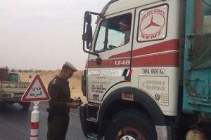 منع سير سيارات النقل الثقيل بمدخل الإسكندرية الصحراوي من الساعة 6 صباحا حتى 12 منتصف الليل