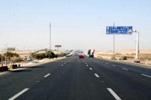 البدء فى تحويلات مرورية بطريق القاهرة – الإسكندرية الصحراوى لمدة اسبوع