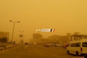 رياح نشطة مثيرة للغبار والأتربة وارتفاع درجات الحرارة فى الإسكندرية الآن