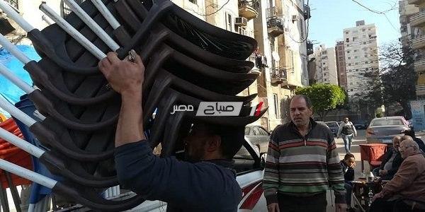 بالصور حملات إزالة إشغالات وتعديات مكبرة بحى وسط فى الإسكندرية
