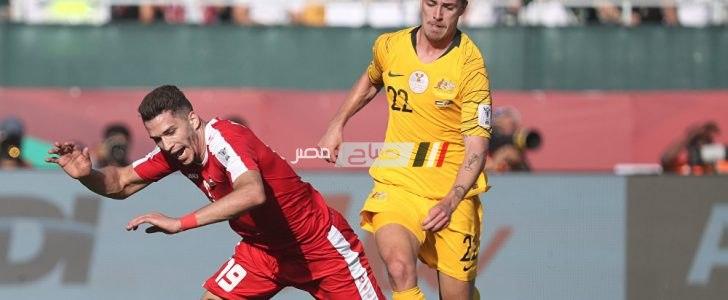 نتيجة مباراة فلسطين واستراليا