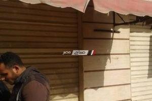 اغلاق مقهى أمام كوبري افلاقه بدمنهور في حملة ازالة الاشغالات