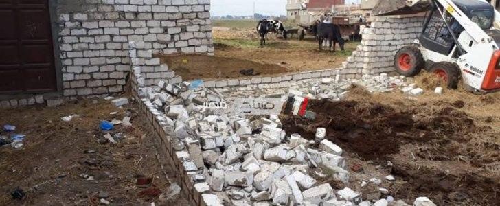 ازالة 20 حالة تعدي على الاراضي الزراعية بمساحة 3500 متر بدمياط (صور)