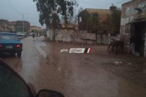 تساقط أمطار ورياح محملة بالاتربة تضرب دمياط لليوم الثاني على التوالي