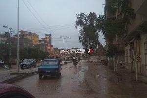 بالصور رياح شديدة و سقوط امطار غزيرة على دمياط