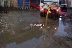 محلية الزرقا: نواصل شفط مياه الامطار و رصف شوارع المدينة