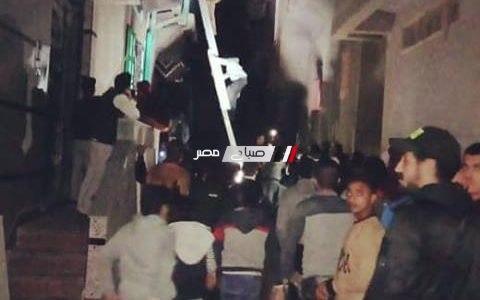 اخماد حريق شب في منزل بدمياط و اصابة 4 مواطنين (صورة)