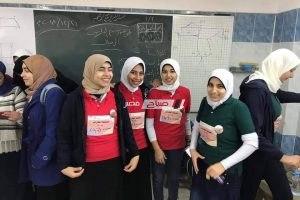 طالبات مدرسة دمياط الثانوية الصناعية تستعد لمسابقة تنميه المهارات المقاومة ببورسعيد