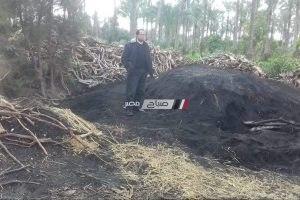 إزالة 2 مكمورة فحم غير مرخصة على مساحة 300 متر في دمياط