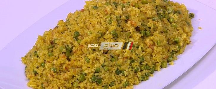 خطوات عمل أرز بالكاري لذيذ على طريقة نجلاء الشرشابي
