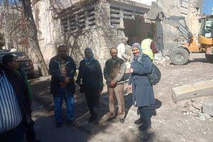 بالصور إزالة إشغالات وتطوير المتحف الرومانى بالإسكندرية