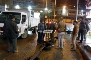 حملات إزالة إشغالات مكثفة بحى المنتزه فى الإسكندرية