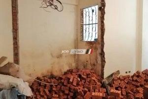 بالصور إيقاف أعمال بناء مخالف بشارع فوزي معاذ بالإسكندرية