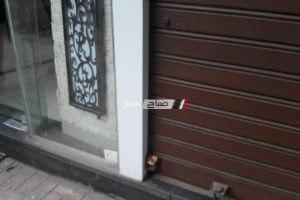 بالصور تشميع وغلق محلات مخالفة بحي شرق فى الإسكندرية