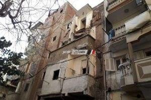 إنهيار أجزاء من عقار بمنطقة الغيط الصعيدي بالإسكندرية