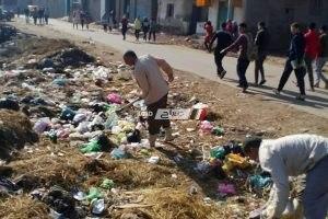 شن حملة نظافه بقرية نديبة بدمنهور
