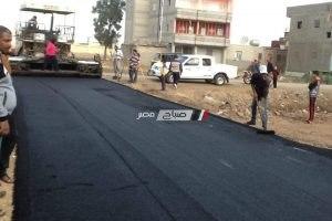 رئيس محلية دمنهور: الانتهاء من رصف طريق كوبرى الخيرى وعزبة رجب بطول 1500متر طولى