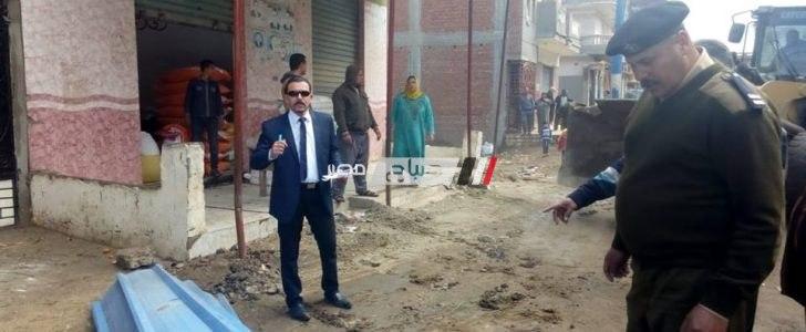 ازالة 14 حالة تعدي بقرية سنهور بالبحيرة في حملة مكبرة