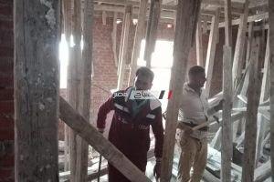 ايقاف اعمال بناء بالمخالفة بمدينة دمنهور