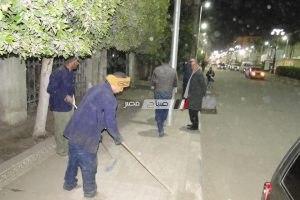 رئيس محلية دمنهور يتفقد اعمال النظافة في شوارع المدينة