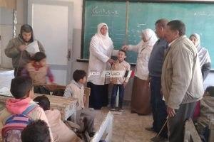 انطلاق الحمله القومية للقضاء على الطفيليات المعوية لأطفال مدرسة ابويادم بقرية نديبة