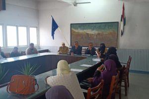 رئيس محلية دمياط يعقد اجتماع لتشكيل منظومة محاربة الأمية وامتحانات فورية للمتقدمين
