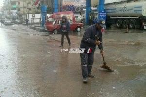 تطهير الشنايش استعدادا لنوات الشتاء بالإسكندرية