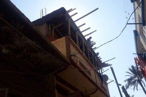 بالصور إيقاف أعمال بناء بدون ترخيص بحى المنتزة بالإسكندرية