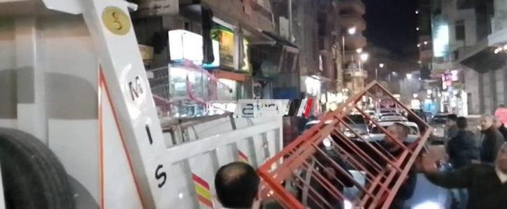 شن حملة مكبرة لازالة الاشغالات بمدينة فارسكور
